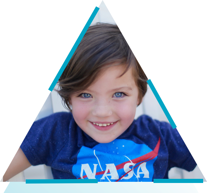 child in nasa t-shirt